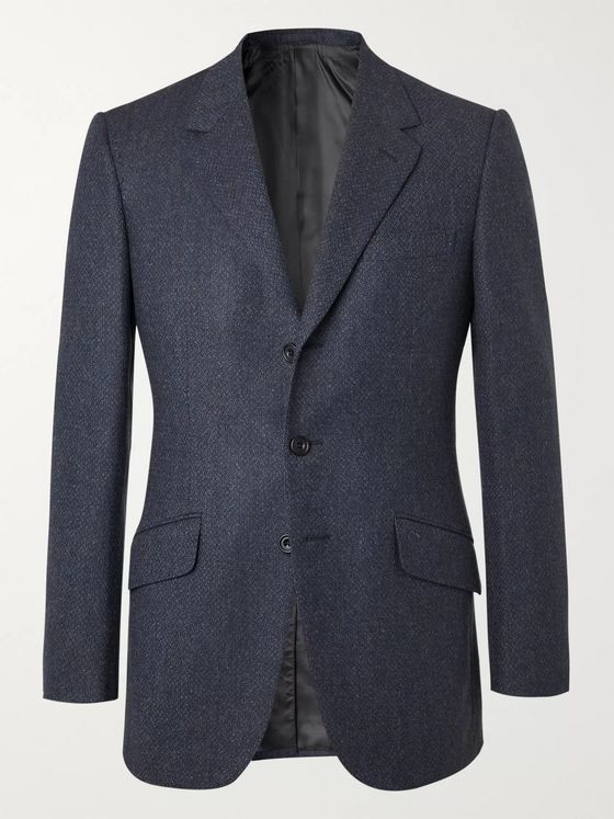 Kingsman Conrad Slim-Fit Mélange Wool Suit Jacket