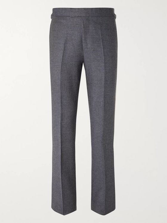 KINGSMAN Conrad Slim-Fit Checked Wool Suit Trousers