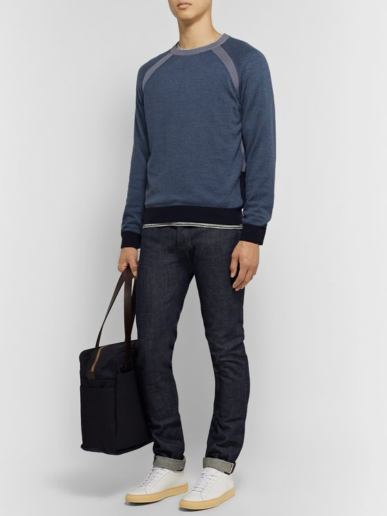 Club Monaco Colour-Block Wool-Blend Sweater