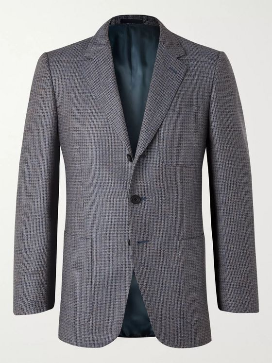 KINGSMAN Conrad Slim-Fit Checked Wool Suit Jacket