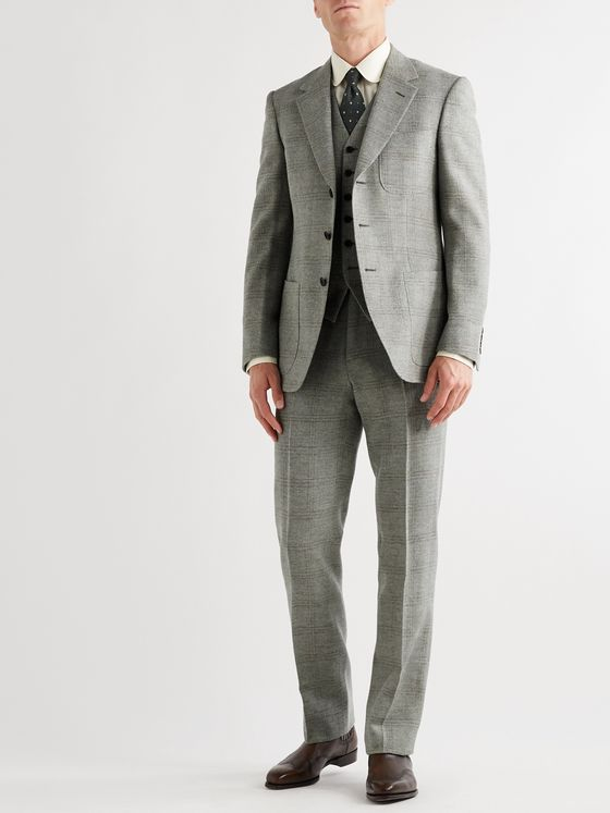 Kingsman Conrad Slim-Fit Checked Wool Trousers