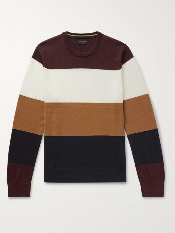Club Monaco Colour-Block Merino Wool Sweater