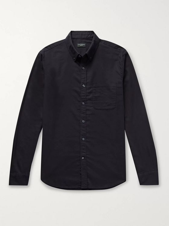 Club Monaco Slim-Fit Button-Down Collar Cotton-Flannel Shirt