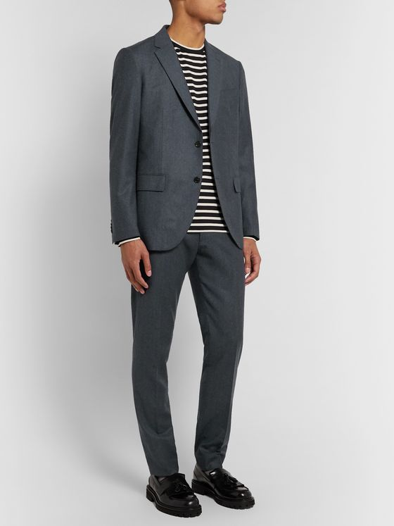 Club Monaco Navy Slim-Fit Wool-Flannel Suit Jacket