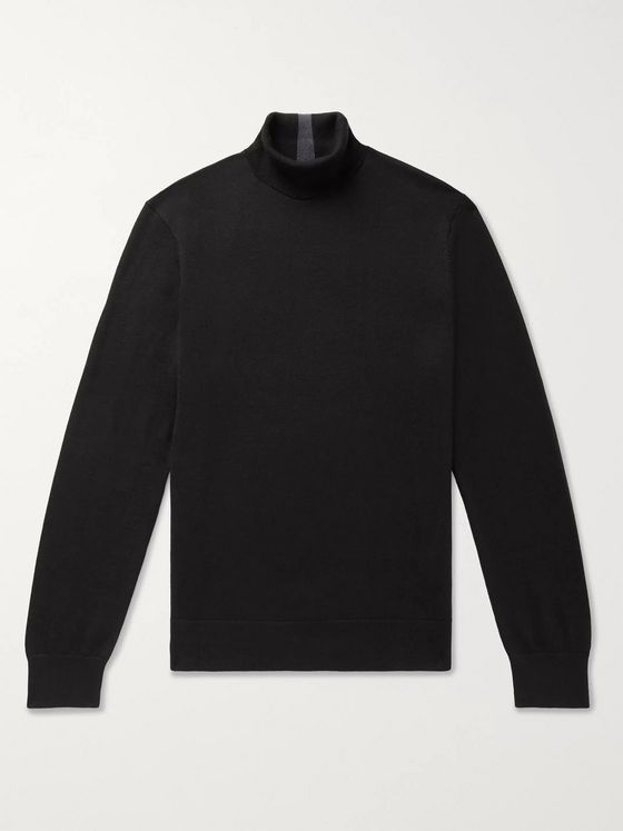 CLUB MONACO Merino Wool Rollneck Sweater