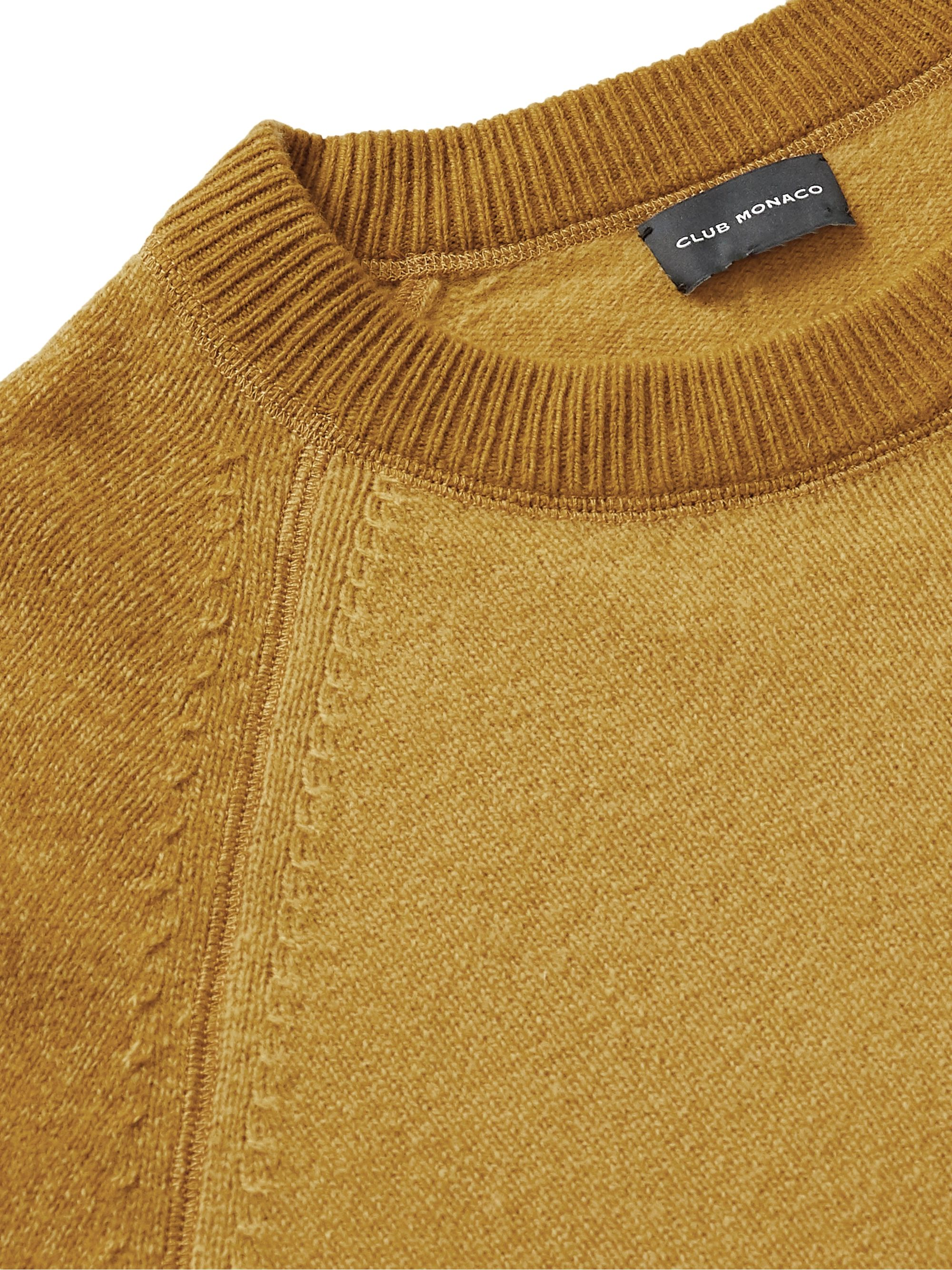Club Monaco Garment-Dyed Colour-Block Wool Sweater