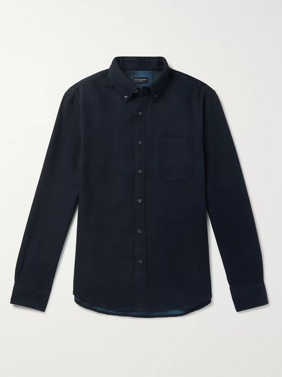 Club Monaco Button-Down Collar Double-Faced Cotton-Flannel Shirt