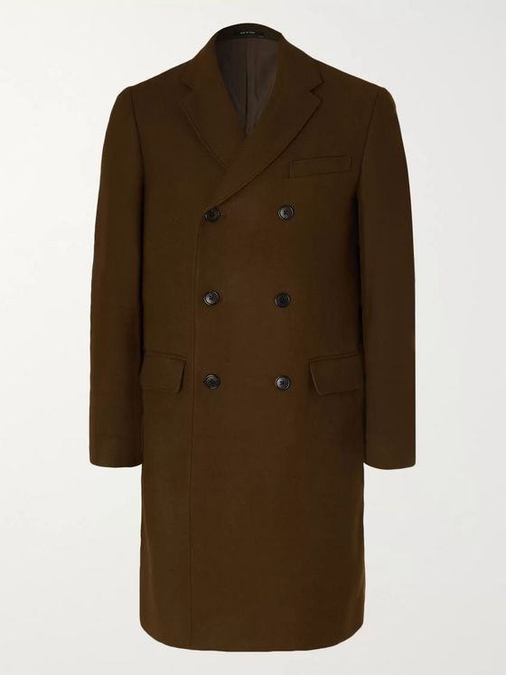 Club Monaco Double-Breasted Wool-Blend Overcoat