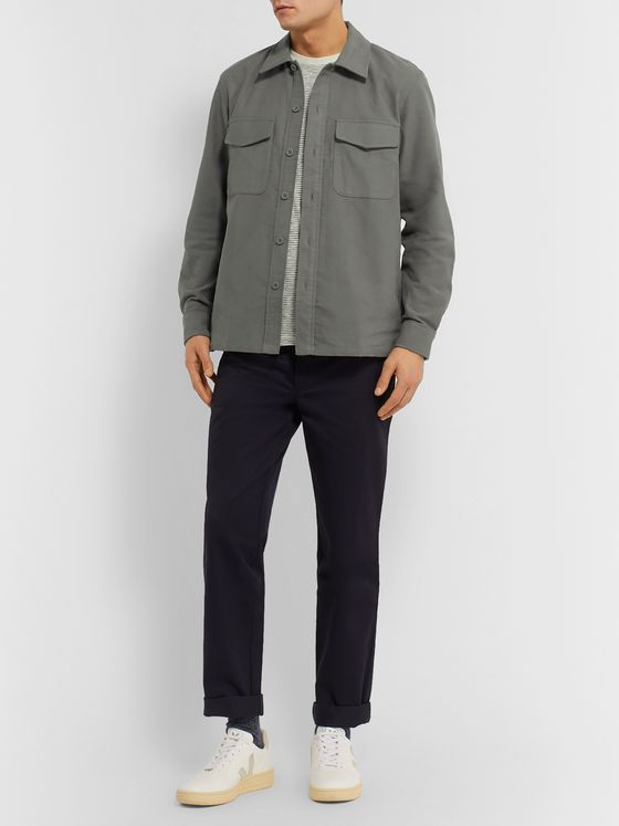 Club Monaco Cotton-Moleskin Overshirt