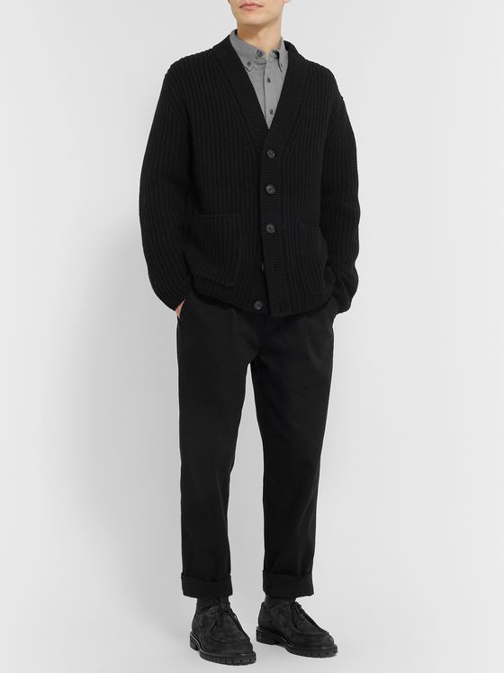 Club Monaco Ribbed Wool Cardigan