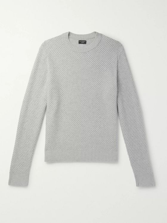 Club Monaco Basketweave Cashmere Sweater
