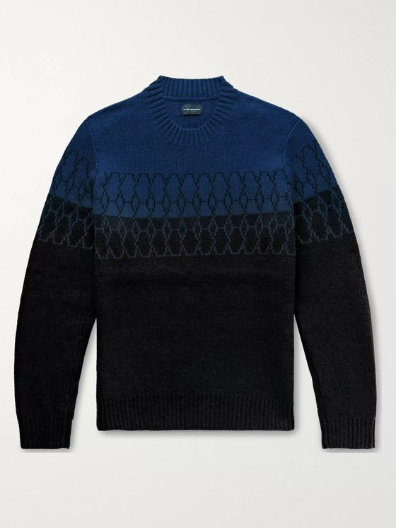 Club Monaco Wool-Blend Jacquard Sweater