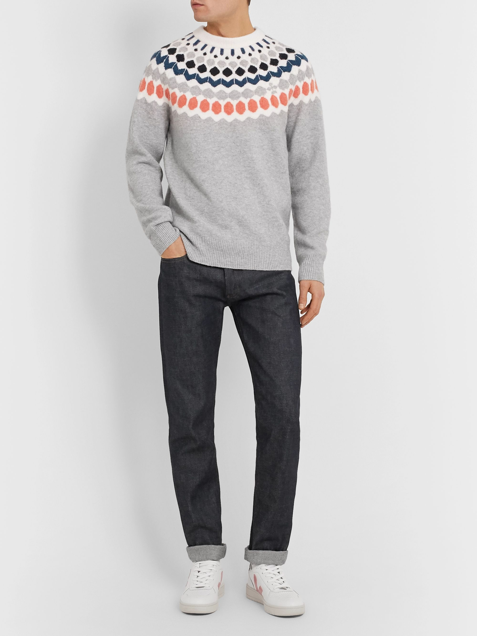 Club Monaco Fair Isle Knitted Sweater