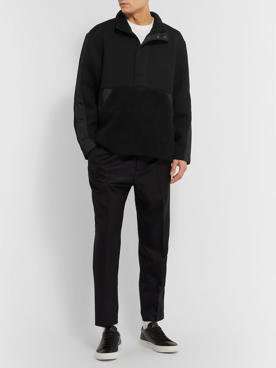 Club Monaco Fleece-Panelled Tech-Jersey Sweatshirt