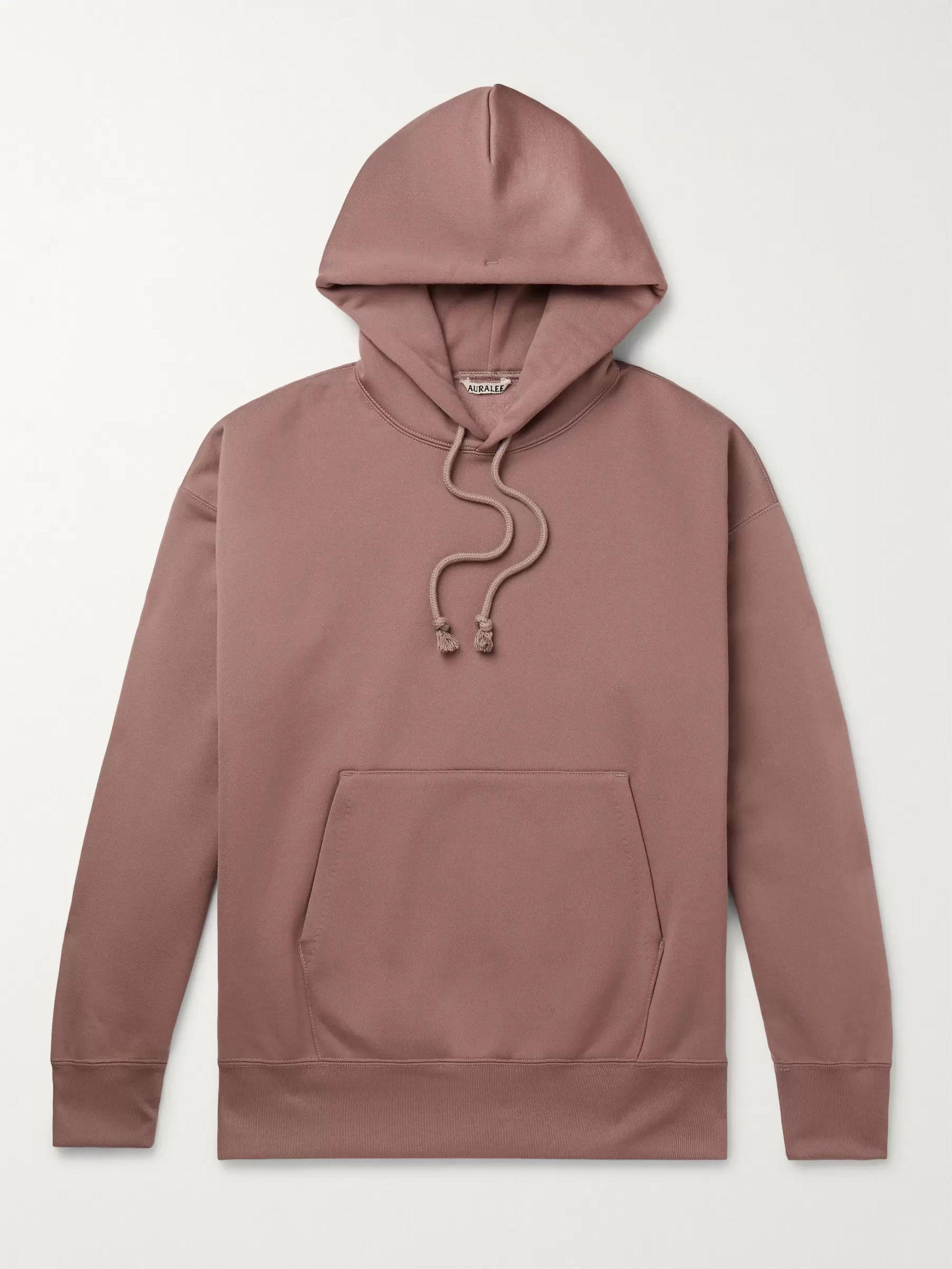 Fleece Back Cotton Blend Jersey Hoodie by Auralee