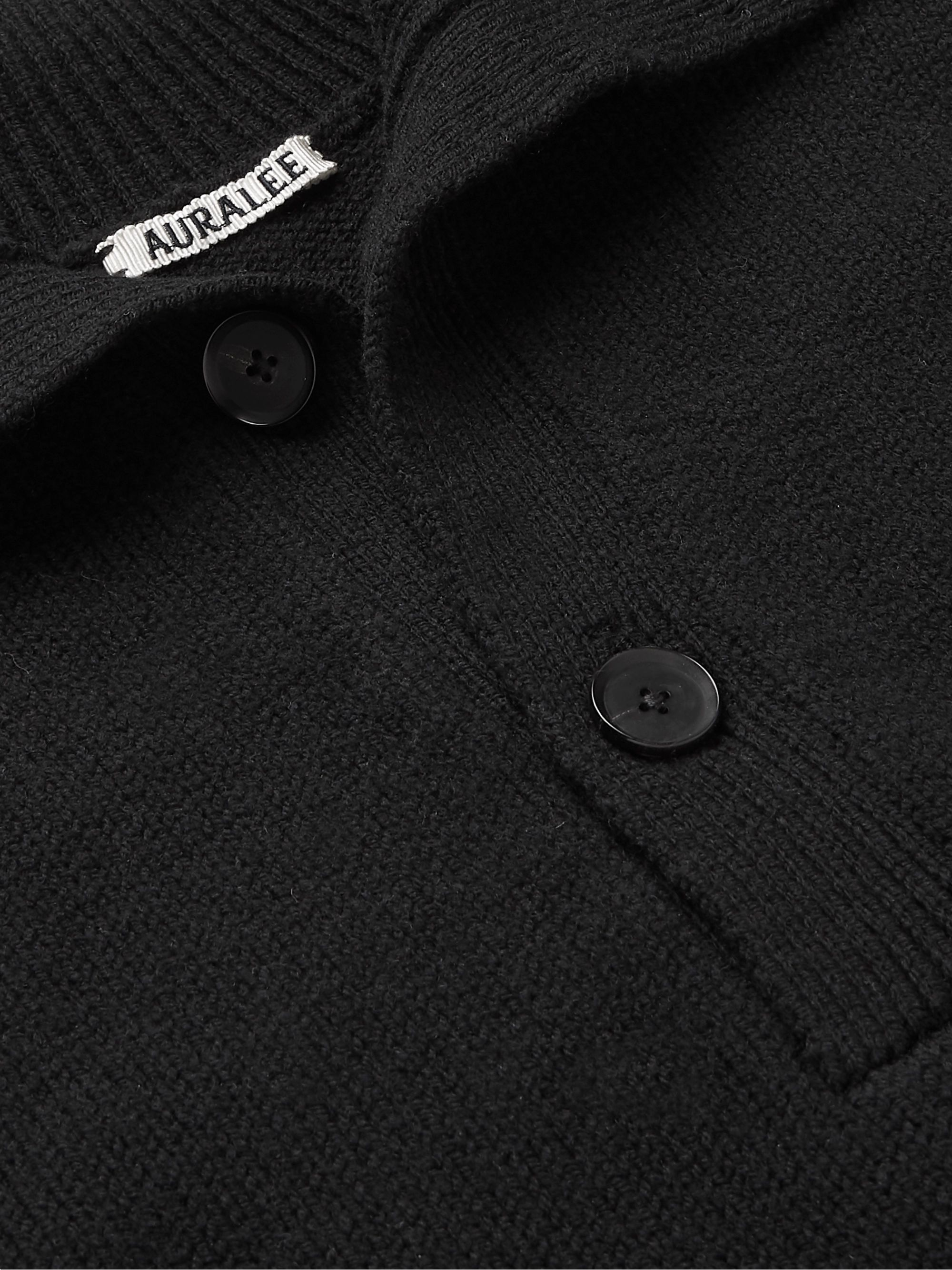 Auralee Merino Wool Polo Shirt