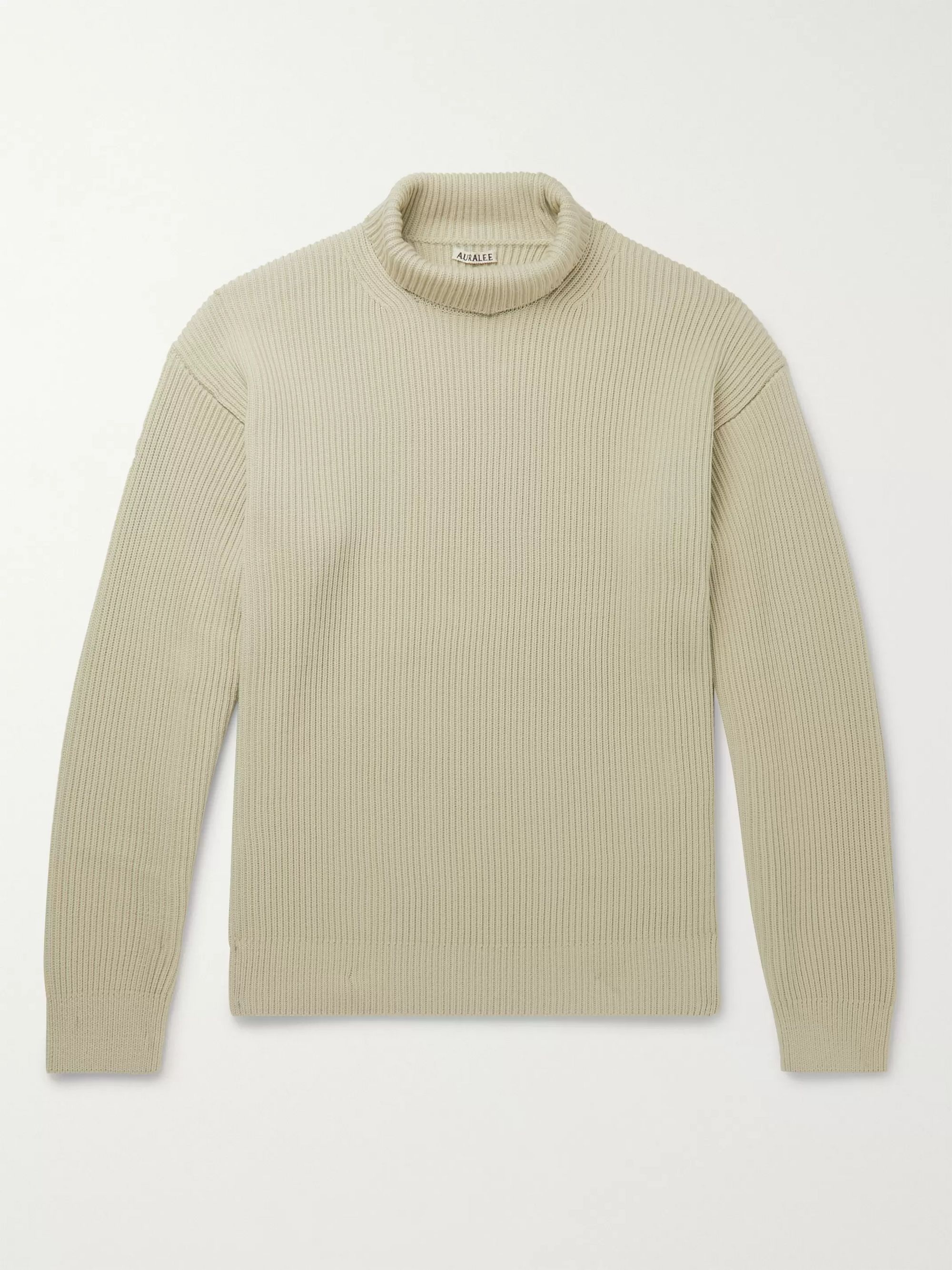 Ribbed Wool Rollneck Sweater by Auralee