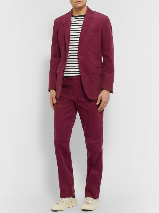 Freemans Sporting Club Slim-Fit Cotton-Corduroy Suit Trousers
