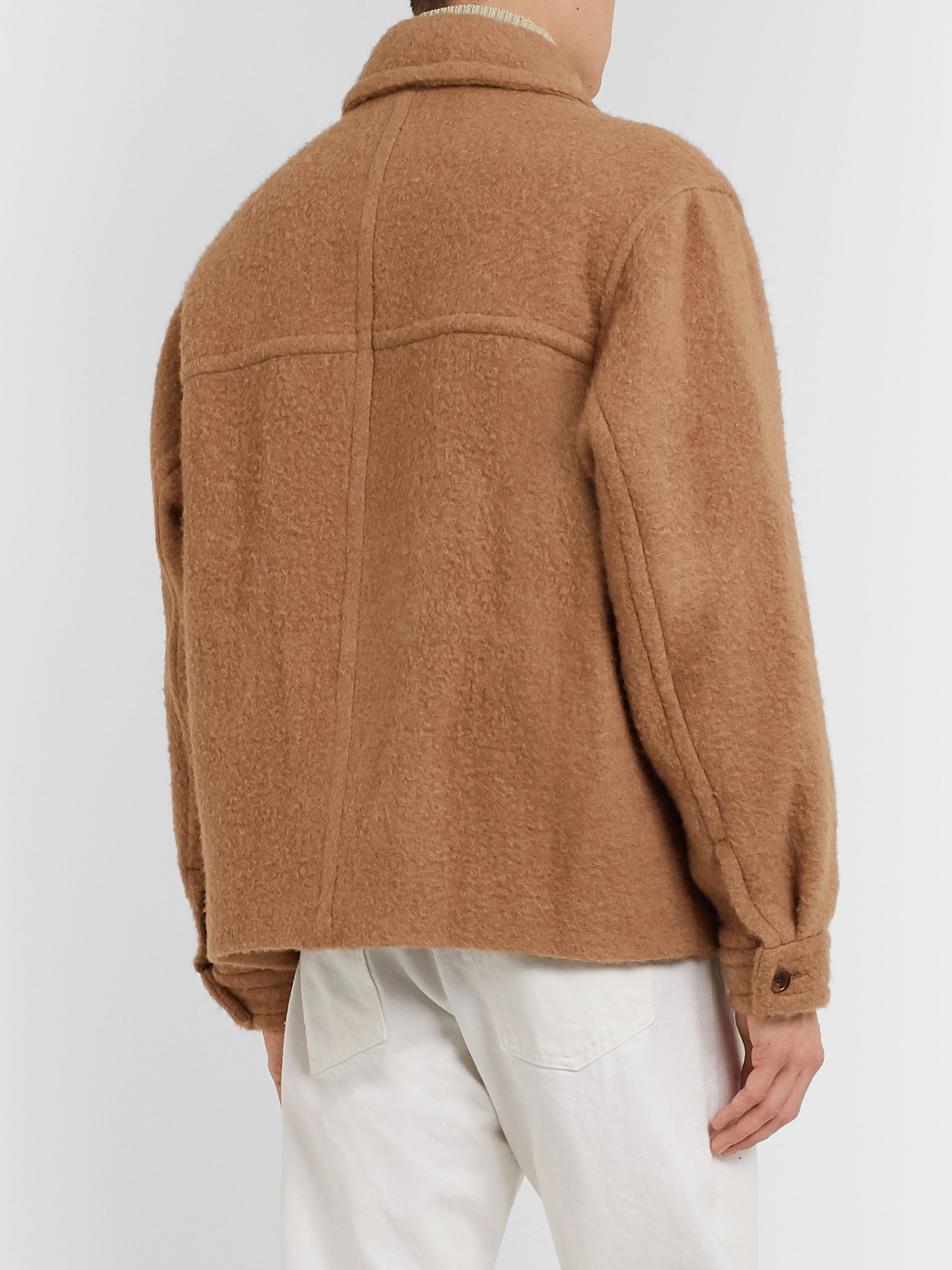 Auralee Brushed Camel Hair Blouson Jacket