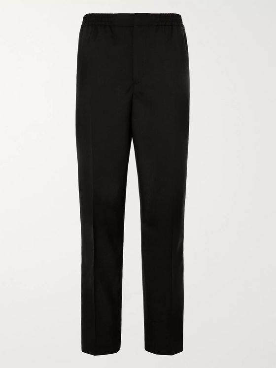 MR P. Slim-Fit Grosgrain-Trimmed Wool Drawstring Tuxedo Trousers