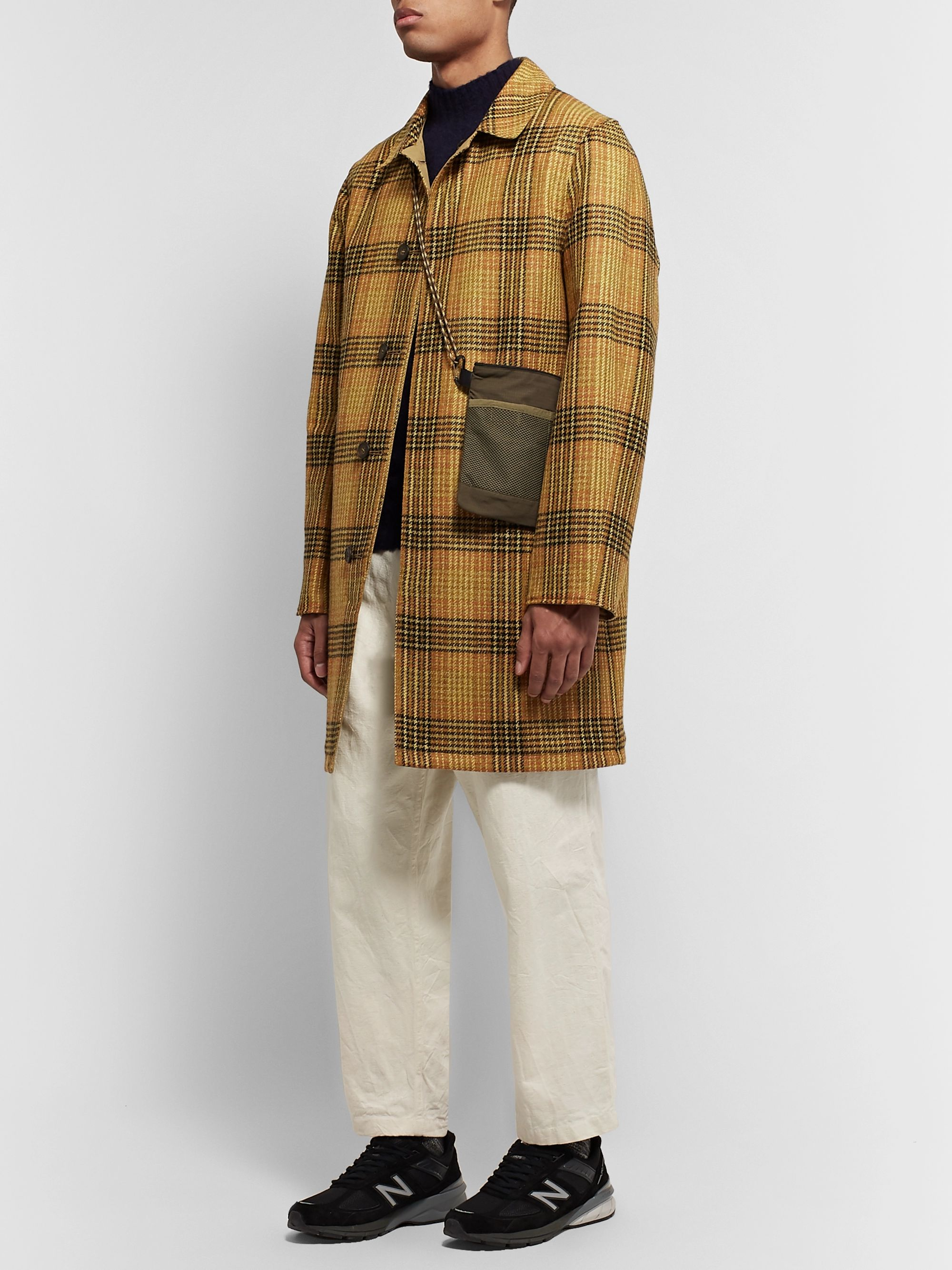 The Workers Club Reversible Checked Wool and Cotton-Twill Coat