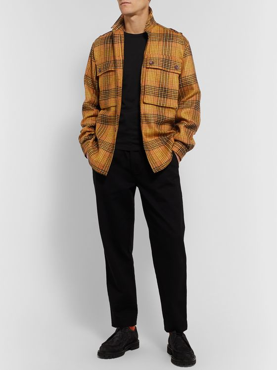 The Workers Club Checked Wool Overshirt