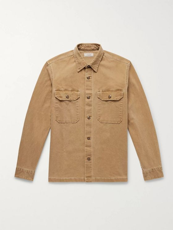 J.Crew Wallace & Barnes Cotton-Blend Canvas Shirt Jacket