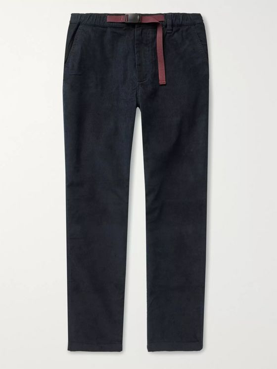 J.Crew Slim-Fit Belted Stretch-Cotton Corduroy Trousers