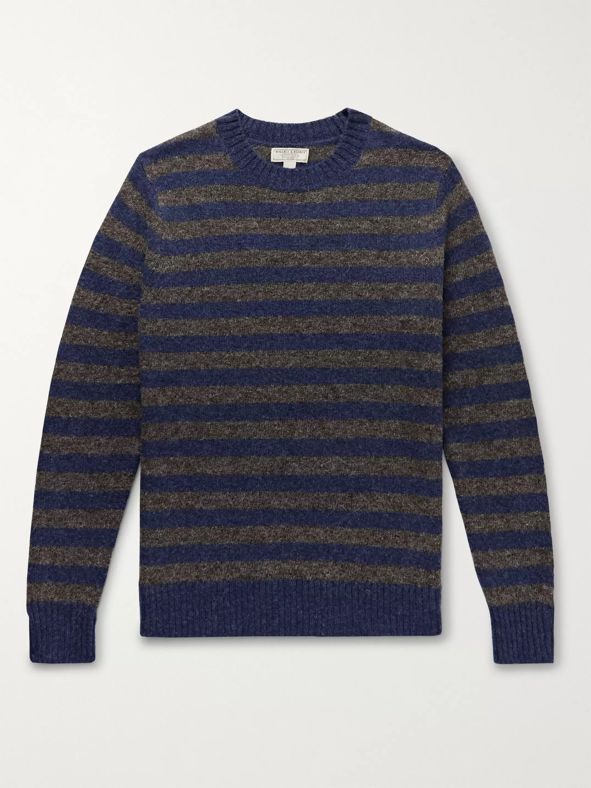 J.Crew Wallace & Barnes Striped Wool Sweater