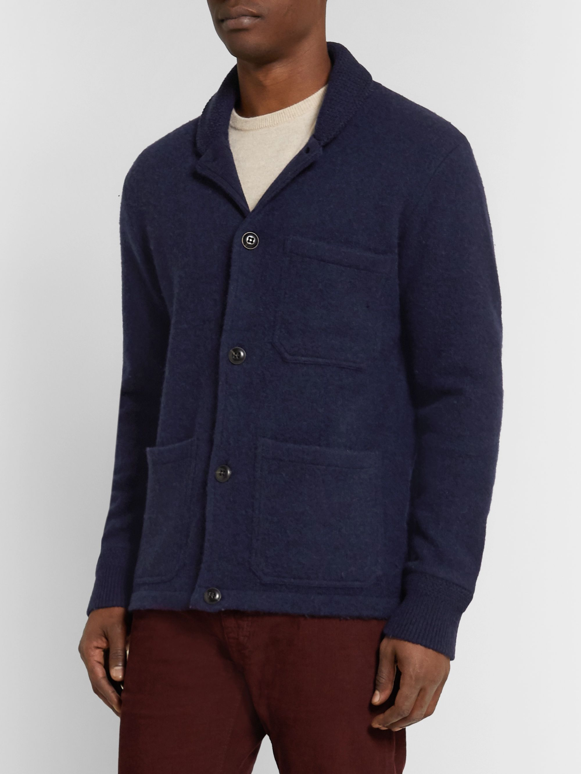 J.Crew Shawl-Collar Brushed-Wool Cardigan