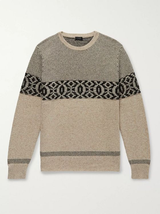 J.Crew Merino Wool-Blend Jacquard Sweater