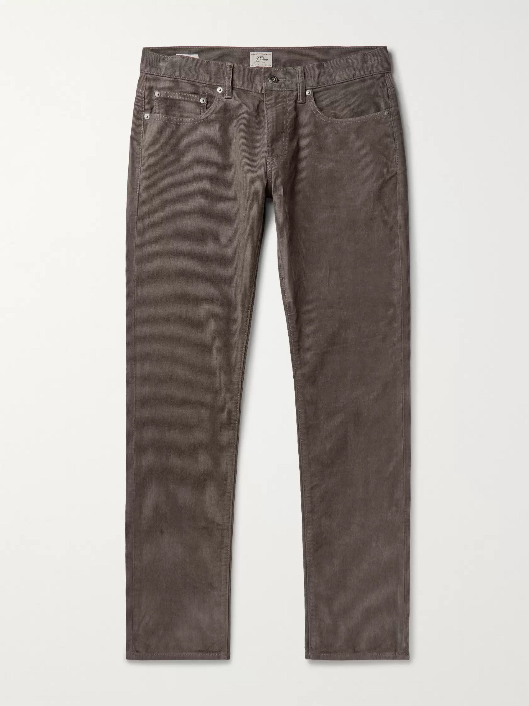 J.Crew 484 Slim-Fit Stretch-Cotton Corduroy Trousers