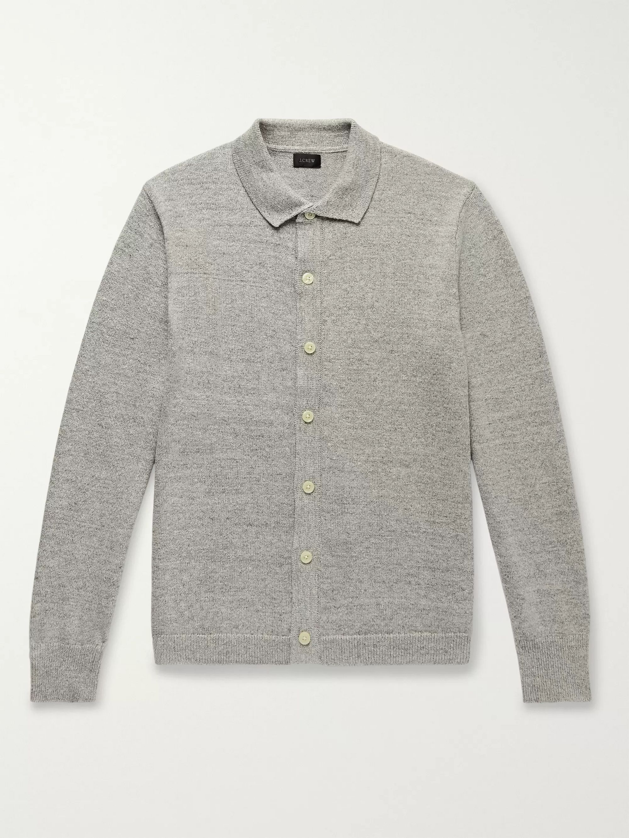 J.Crew Mélange Cotton and Wool-Blend Cardigan