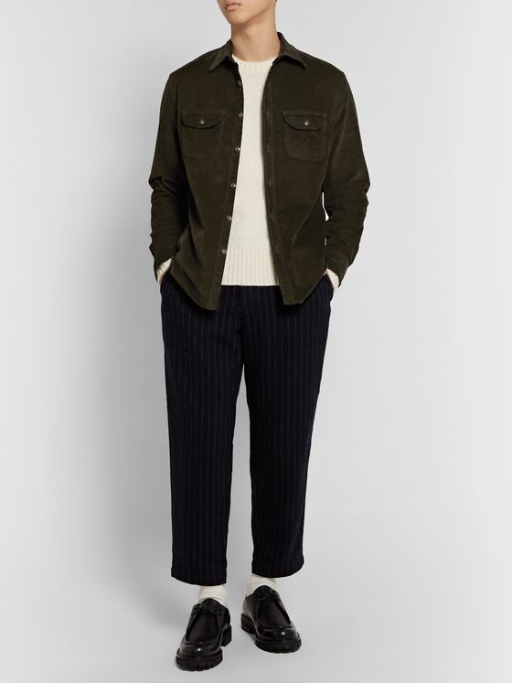 J.Crew Stretch Cotton-Corduroy Overshirt