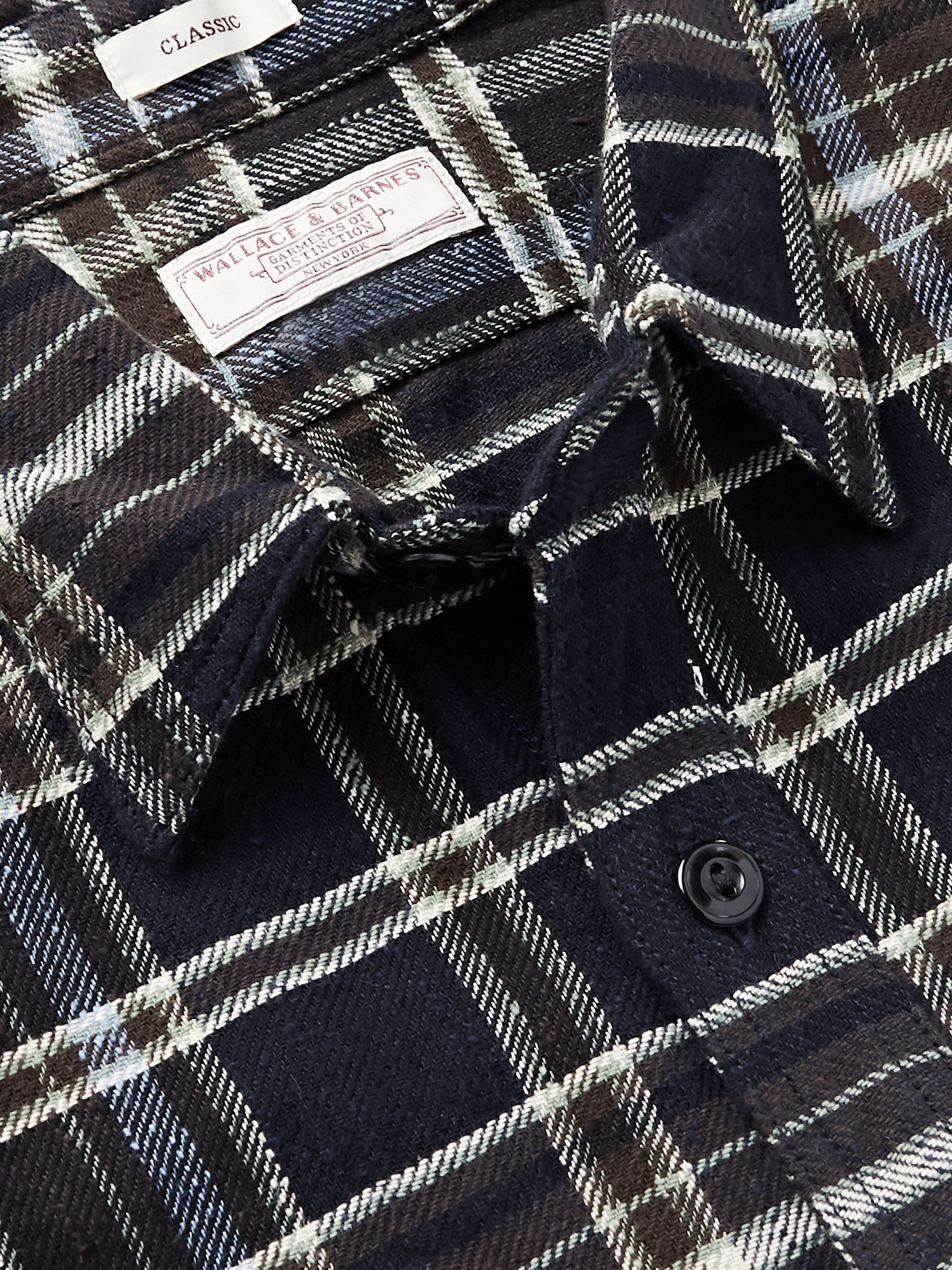 J.Crew Checked Slub Cotton-Flannel Shirt