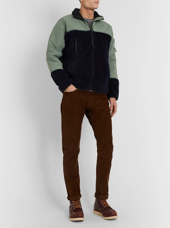 J.Crew Panelled Fleece and Shell Jacket