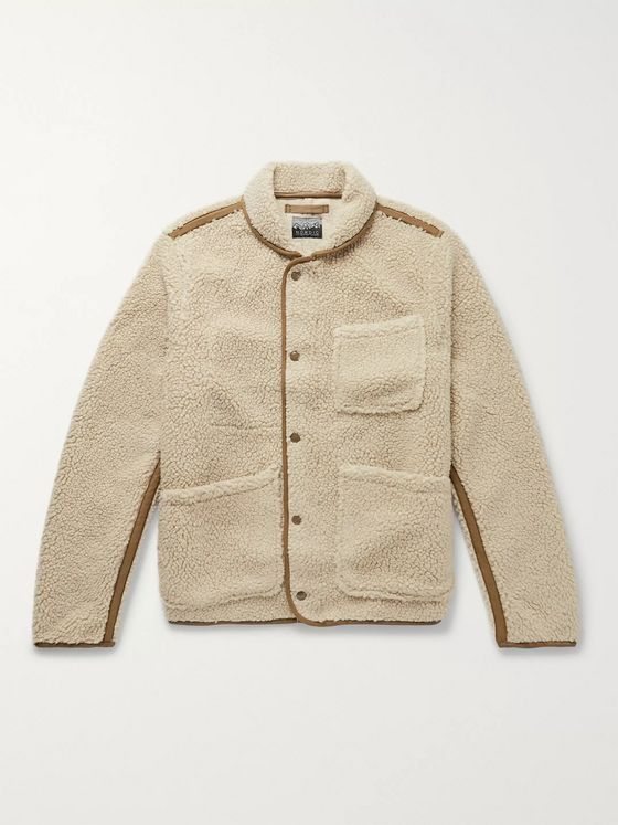 J.Crew Nordic Shawl-Collar Grosgrain-Trimmed Fleece Jacket