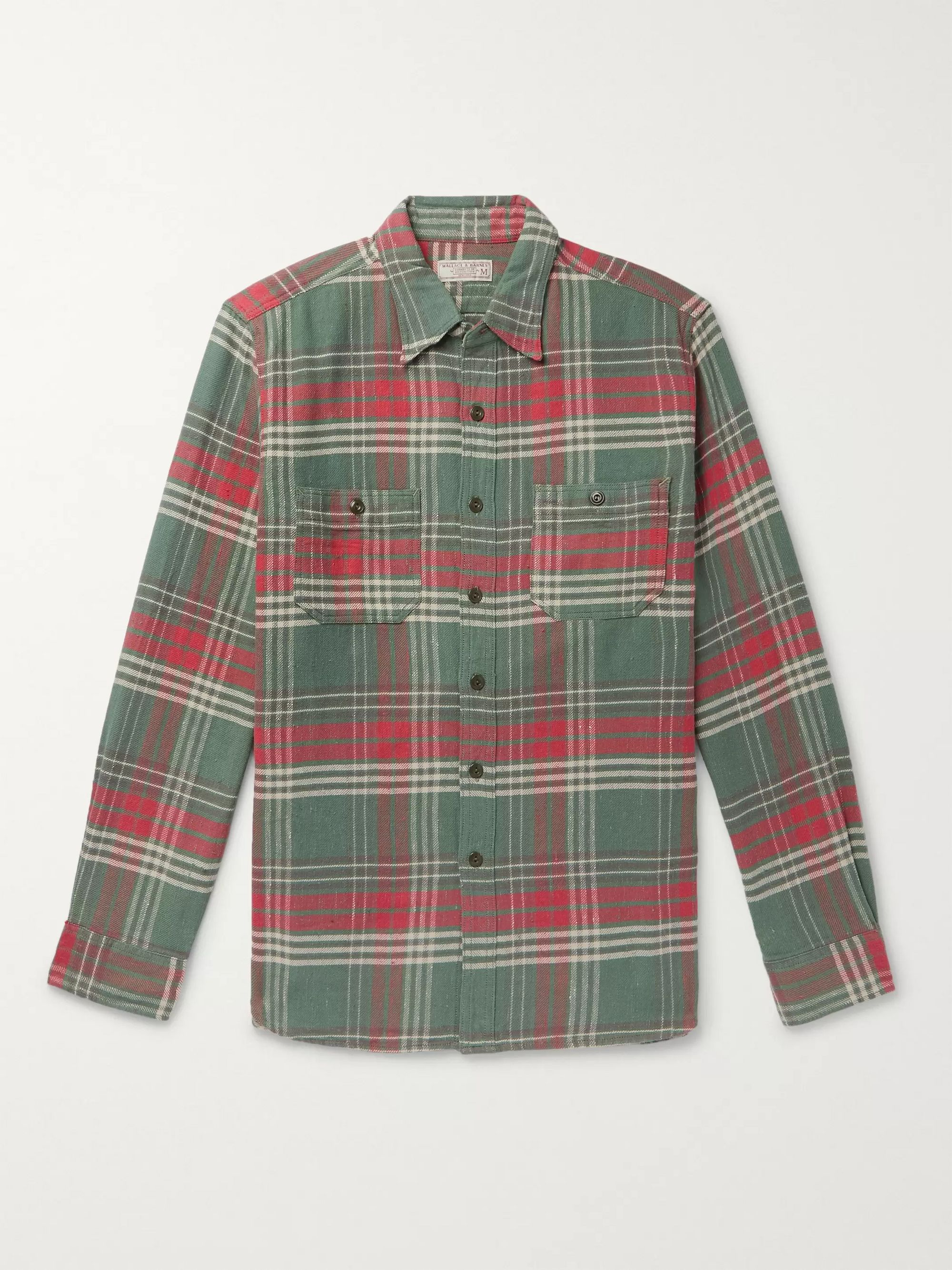 J.Crew Wallace & Barnes Checked Slub Cotton-Flannel Shirt