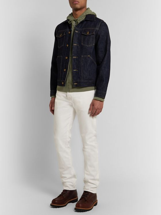 J.Crew Garment-Dyed Loopback Cotton-Jersey Zip-Up Hoodie