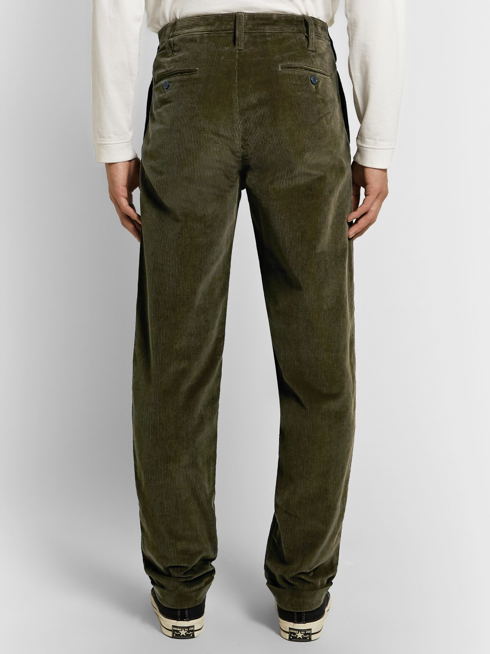 J.Crew Wallace & Barnes Pleated Cotton-Corduroy Trousers