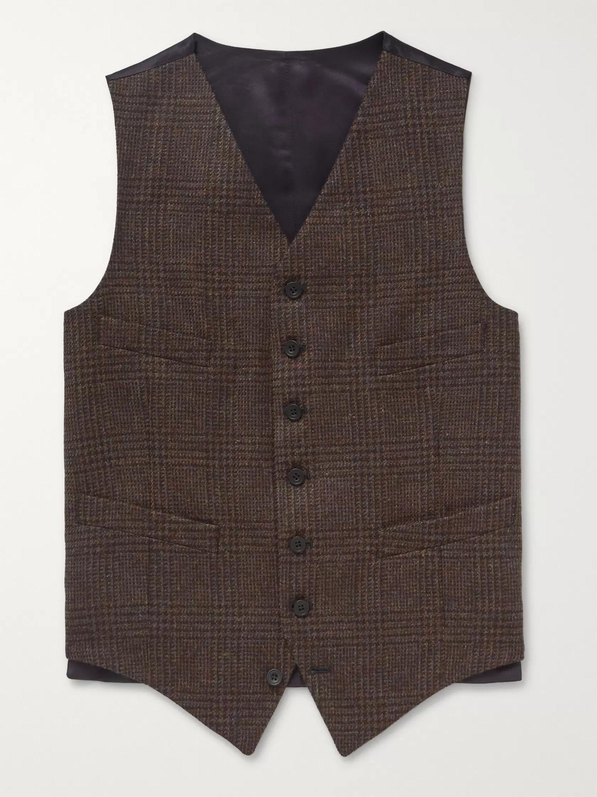KINGSMAN Oxford Wool-Tweed Waistcoat