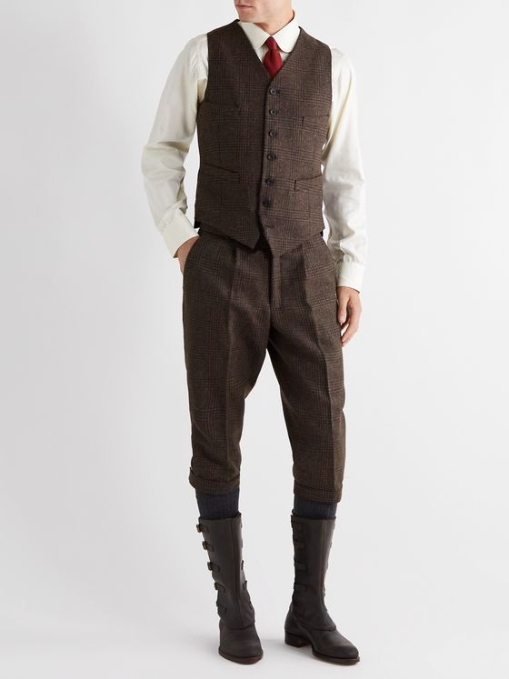Kingsman Oxford Wool-Tweed Waistcoat