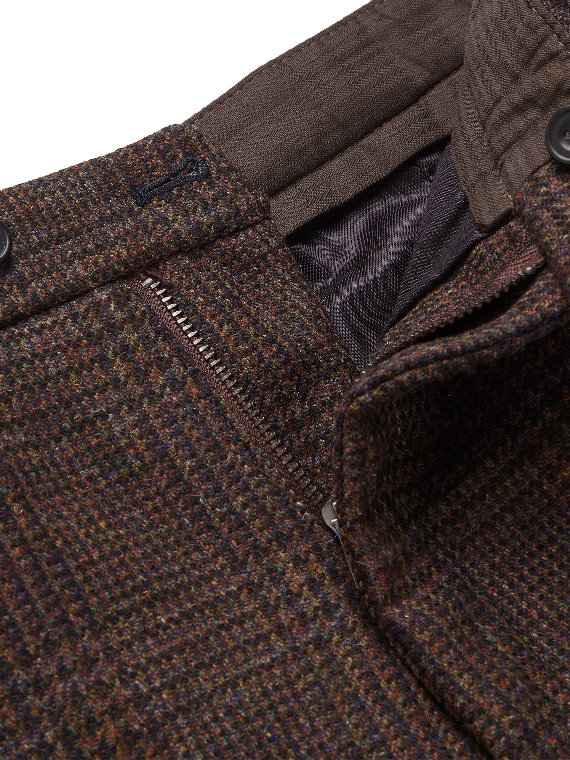 KINGSMAN Oxford Cropped Tapered Wool-Tweed Suit Trousers