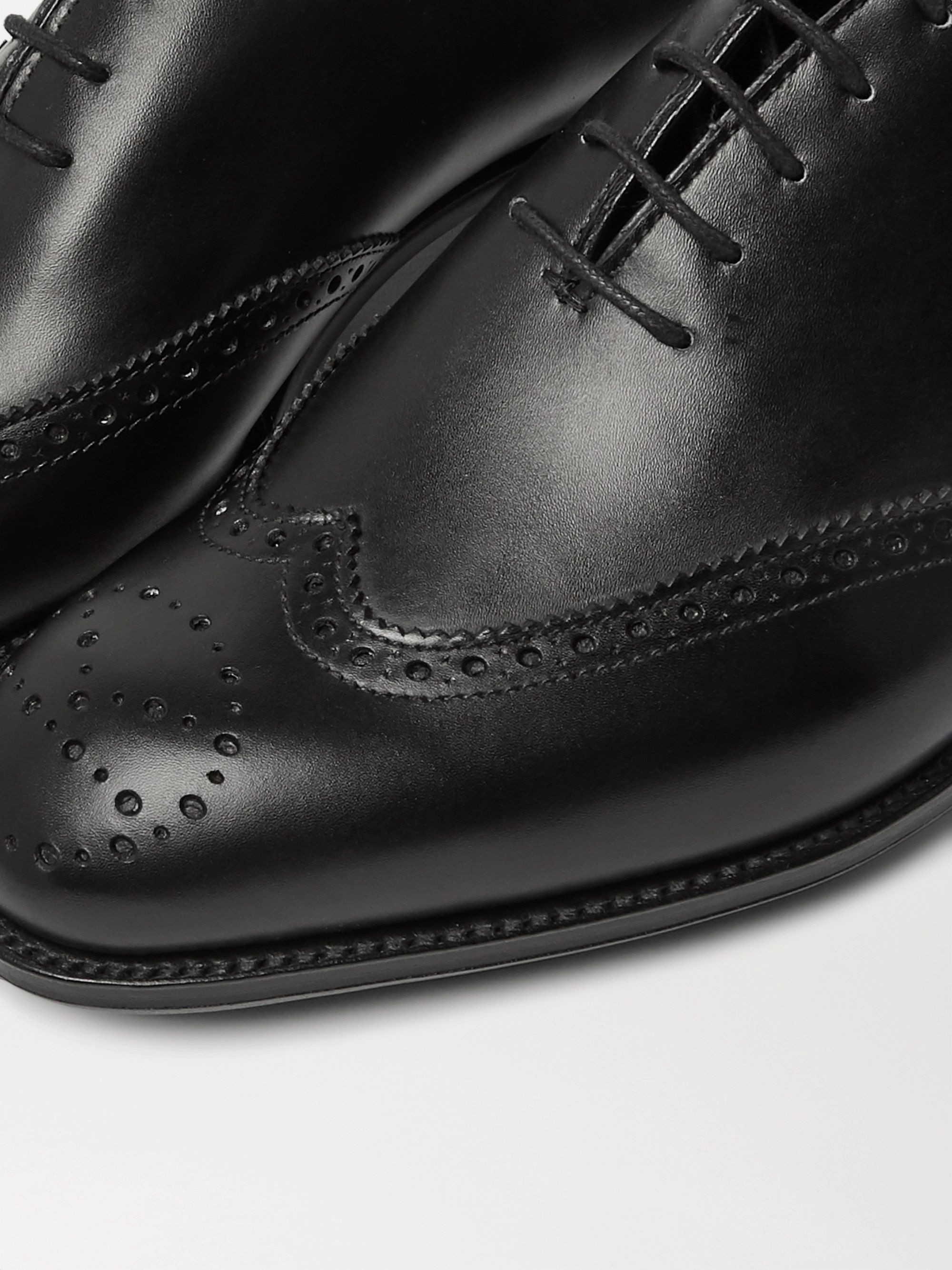 Black + George Cleverley Leather Brogues | Kingsman
