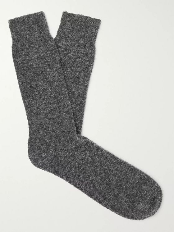 Howlin' Wally Mélange Stretch Merino Wool-Blend Socks