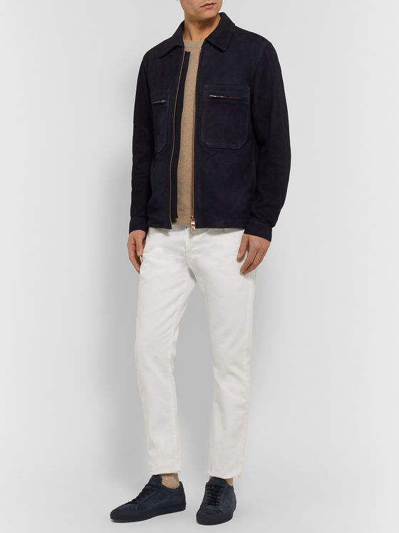 Private White V.C. Slim-Fit Suede Blouson Jacket