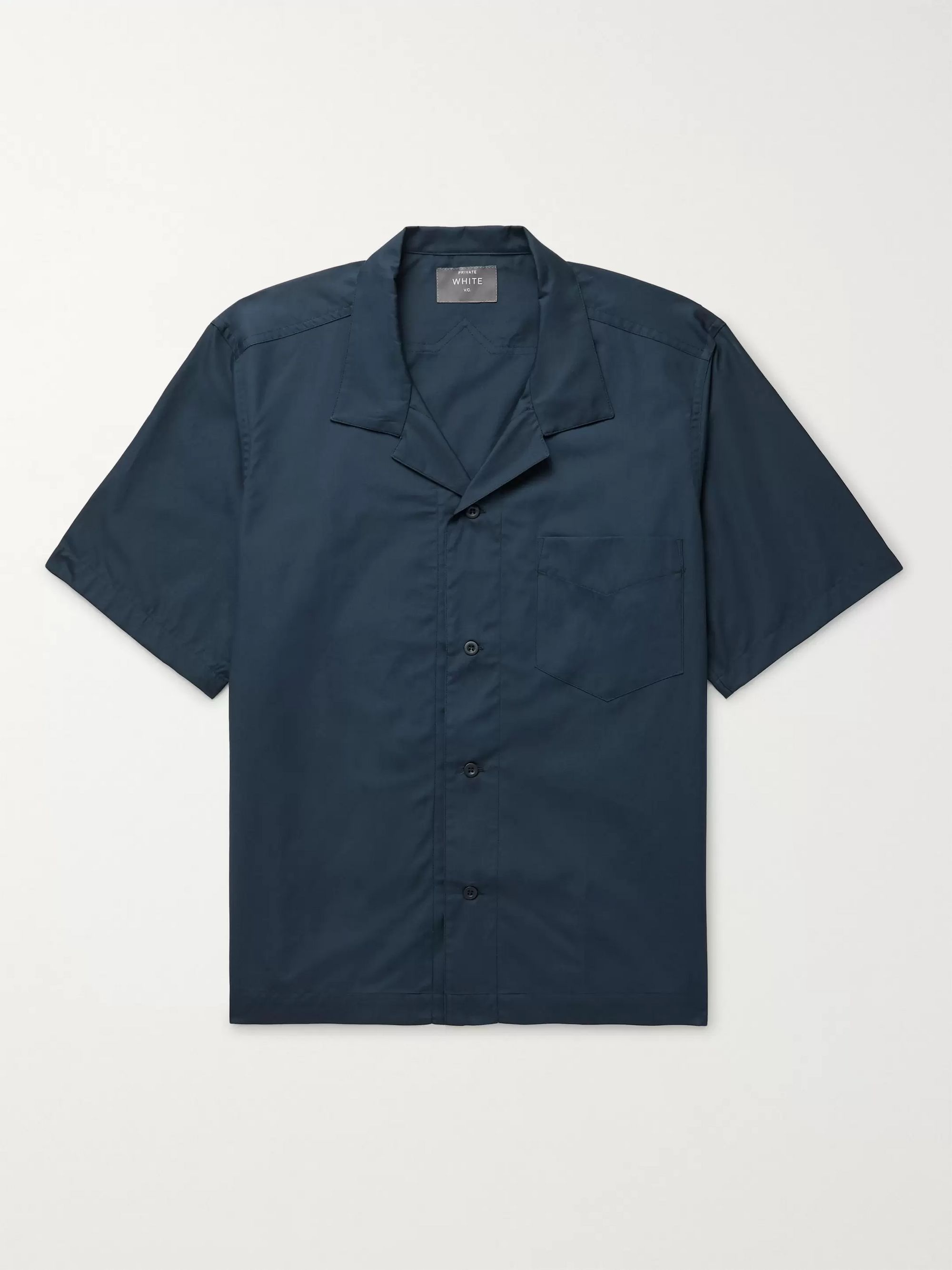 Private White V.C. Camp-Collar Cotton-Poplin Shirt