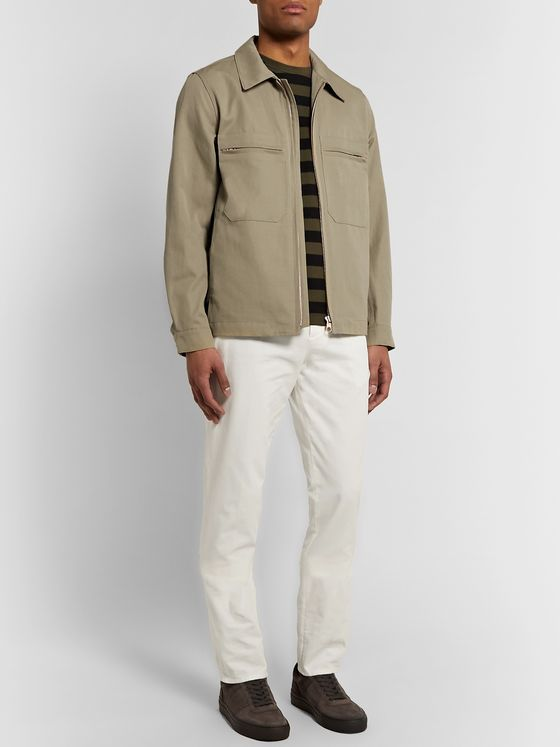 Private White V.C. Mechanic Cotton and Linen-Blend Gabardine Jacket