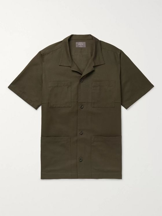 Private White V.C. Camp-Collar Cotton Shirt