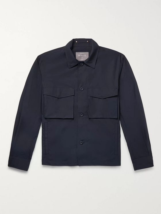Private White V.C. Camp Collar Cotton-Poplin Overshirt